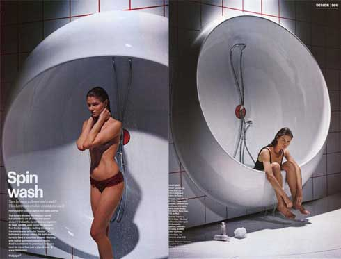 Rotator Bath concept by designer Ron Arad